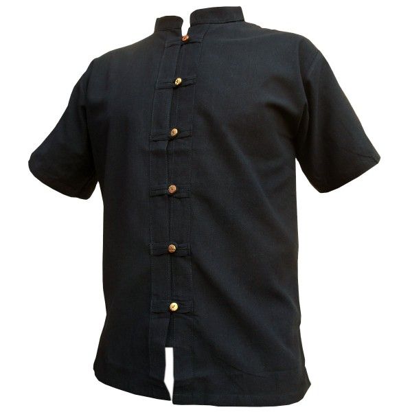 Fisherman shirt with wooden button placket up to size XXXL