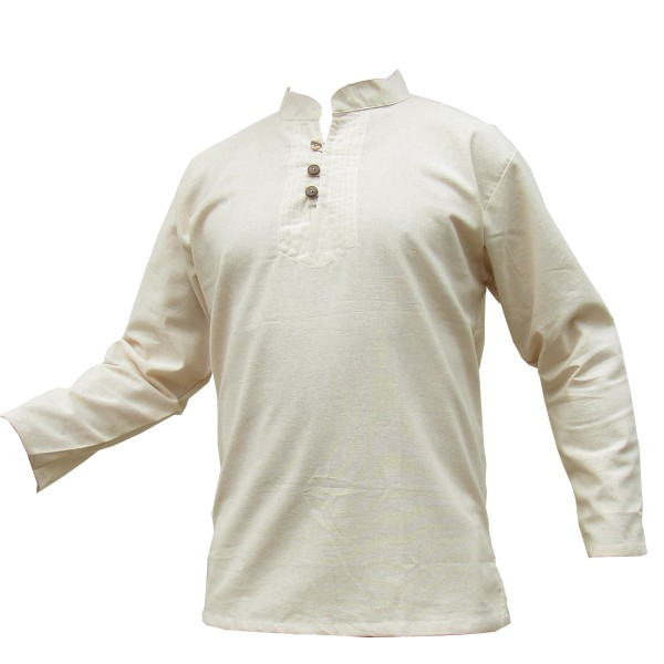Natural shirts made from untreated cotton