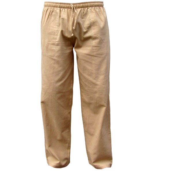 Simple cotton trousers 'K'
