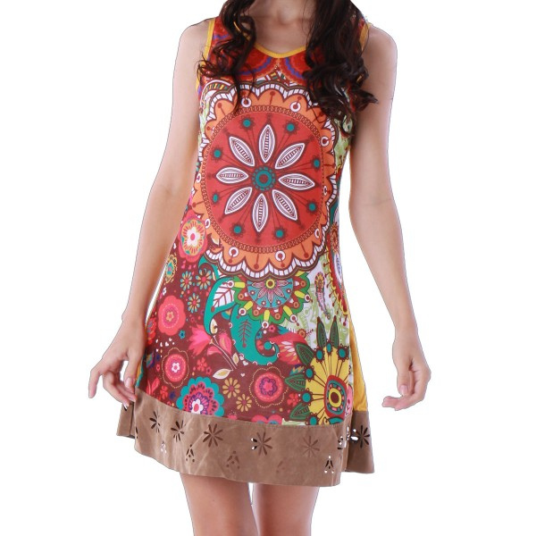 'Underground' summer dress, colorful tunic